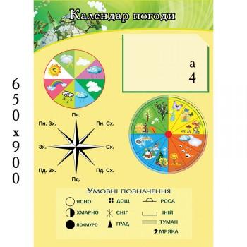 Стенд календар природи 1309