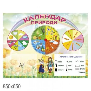 Стенд календарь природы козак и украиночка