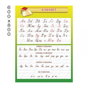 Стенд алфавит 1204