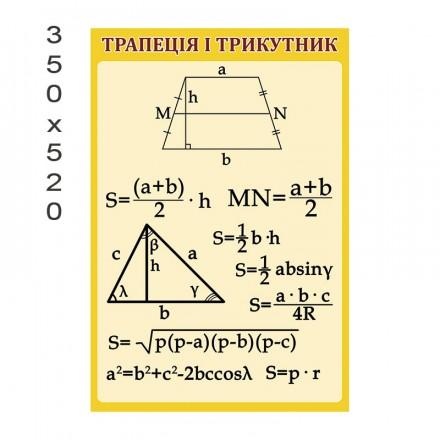 Стенд трапеция и треугольник
