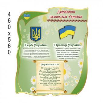 Стенд государственная символика Украины