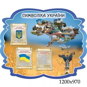 """Стенды символика Украины """"Фигурный"""""""