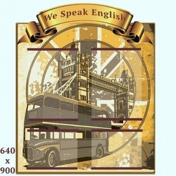 We speak english bus