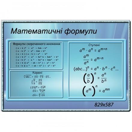 Стенд математика  0348