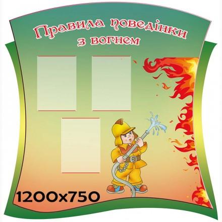 Стенд пожарная безопасность фигурный